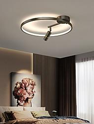 cheap -30/40/50 cm LED Ceiling Light With Spotlight Modern Nordic Circle Ring Design Black Gold Living Room Bedroom Dining Room Flush Mount Lights Aluminium Alloy Painted Finishes 220-240V