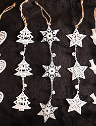 cheap -Christmas Toys Christmas Decorations Christmas Tree Ornaments String Lights Snowflake Christmas Tree Glow in the Dark Party Favor PVC 1 pcs Adults Kids 8*8cm Christmas Party Favors Supplies