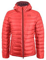 cheap -men's lightweight nessh hooded down jacket, 850 fill power goose down (light red, large)