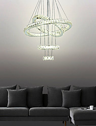 cheap -4 Rings 80 cm Crystal Adjustable Dimmable Chandelier Metal Electroplated Chic & Modern 110-120V 220-240V