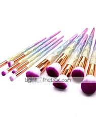 cheap -10 Pcs makeup brushes set Unicorn makeup brush 103d nubuck diamond makeup brush set of 103d dazzle color makeup brush
