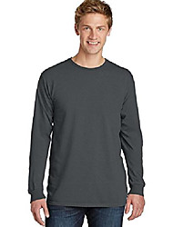 cheap -port & company pigment-dyed long sleeve tee. pc099ls coal