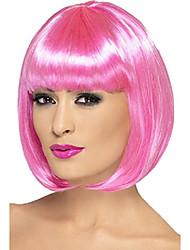cheap -partyrama wig, 12 inch pink