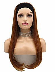 cheap -long inch straight headband wig synthetic hair wig with black headband color 30 for black women(straight wig 30#)