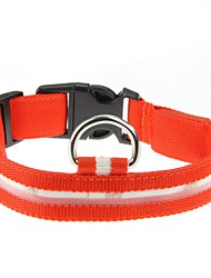cheap -Cat Dog Collar LED Lights Polka Dot Nylon Black Red Blue Pink Green
