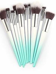 cheap -10pcs make up foundation eyebrow eyeliner blush cosmetic concealer brushes by palalibin(free,gold)