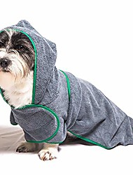 cheap -dog bathrobe towel, microfiber oversized hooded bath pet towel, soft super absorbent dog drying towel robe,dog drying coat, dry fast dog bag dog blanket,machine washable,m