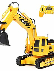 cheap -remote control excavator toys 1:20 rc excavator, 2.4ghz fully functional construction vehicles toys truck with rechargeable battery, birthday gift for boys and girls, kids (1:20)