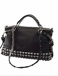 cheap -women's punk rhinestone decoration pu leather messenger bag handbag shoulder bag hobo tote