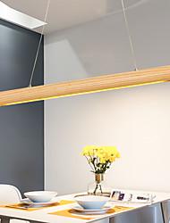 cheap -65/95/120cm LED Pendant Light Nordic Modern Wood Island Light Acrylic Painted Finishes 110-120V 220-240V