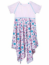cheap -upf 50+ twirly girls sun dress - pink flamingo - 12
