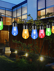 cheap -LED Solar Retro String Light Bulb Outdoor Waterproof Bubbles String Lights Wedding Patio Holidays Party Hoose Decorative Lights Multi-color Waterproof Acrylic Solar Powered 5m 6m 7m 10m Set