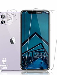 cheap -iphone 11 screen protector + camera lens protectors by , [2 + 2 pack] premium hd clear tempered glass, 9h hardness, hd clarity, anti- scratch, 3d curved accuracy anti-bubble film