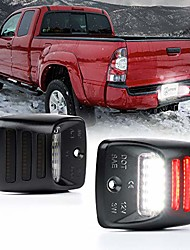 cheap -white led license plate lights assembly with red running lamp replacement tag lights for 2005-2015 toyota tacoma, 2000-2013 toyota tundra