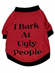 cheap -shirt, cute puppy clothing summer cool vest for dog pet sweatshirt i bark at ugly people (xs, red)