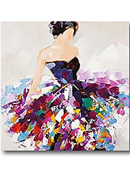 cheap -Oil Painting Hand Painted Canvas Abstract High Quality Wall Art Modern Rolled Without Frame Dancer Girl Nude