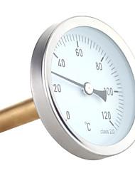 cheap -63mm Horizontal Dial Thermometer Aluminum Temperature Gauge 0-120C