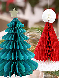 cheap -Christmas Toys Christmas Decorations Wall Decals Christmas Tree Merry Christmas Party Favor For Living Room Bedroom Paper 2 pcs Kids Adults 30*22cm Christmas Party Favors Supplies