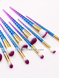 cheap -10 Pcs Unicorn makeup brush spiral handle makeup brush set colorful makeup brush beauty tools