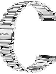 cheap -stainless steel band compatible for fitbit ionic bands women men,ultra-thin lightweight replacement band strap bracelet compatible fitbit ionic smartwatch accessories silver