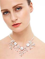 cheap -Necklace Women's Imitation Diamond White 42 cm Necklace Jewelry for Wedding