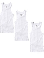 cheap -3-6 pack men's 100% cotton wife beater a-shirts undershirt plain ribbed tank top (3-pack white, small)
