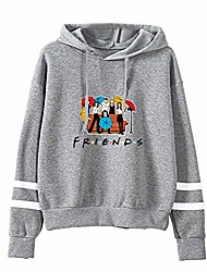 cheap -fashion friend sweatshirt hoodie friend tv show merchandise women graphic hoodies pullover funny hooded sweater tops clothes grey
