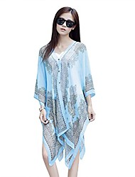 cheap -beach scarf/shawl, women's swimwear beachwear bikini cover up(blue)