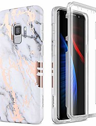 cheap -case for galaxy s9, [built-in screen protector] full-body protection shockproof rugged bumper protective cover for samsung galaxy s9 5.8 inch (gold marble)
