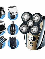 cheap -dreamme electric shaver for men 5-in-1 grooming kit for men: five-headed beard electric razors,nose hair trimmer,head shavers for bald men, cordless and rechargeable