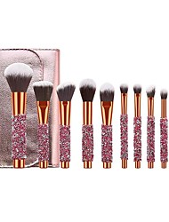 cheap -New 10 pieces Makeup Brushes Set diamond inlaid cosmetic brush 10 pieces of diamond brush