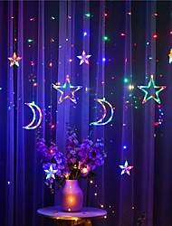 cheap -Moon Star LED Curtain Light 220V 3M Fairy Tale String Lights Eid al-Fitr Home Ramadan Festival Decoration Holiday Lighting Wedding Decoration