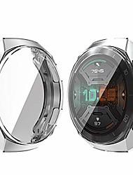 cheap -case for huawei watch gt 2e 46mm screen protector case, slim soft tpu screen protector full around protective case for huawei watch gt 2e 46mm, clear-2pc