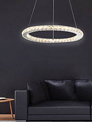 cheap -60 cm Crystal Dimmable LED Chandelier Pendant Light Metal Circle Electroplated Modern Contemporary 110-120V 220-240V