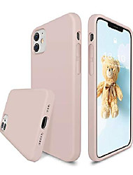 cheap -liquid silicone case compatible with iphone 12/12 pro 6.1 inch, gel rubber full body protection cover with microfiber lining, shockproof protective phone case, pink sand