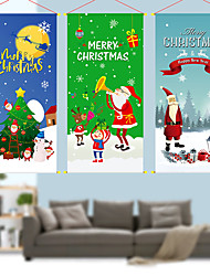 cheap -Christmas Toys Christmas Decorations Wall Decals Santa Claus Reindeer Merry Christmas Party Favor For Living Room Bedroom Fabric 1 pcs Adults Kids 3*40cm Christmas Party Favors Supplies