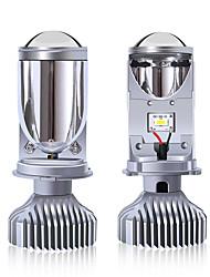 cheap -2Pcs H4 LED Bulb Three-color Lens For Automobile LED Headlights With Mini Projector Lens H4 LED Conversion Kit Automobiles Hi/Lo Beam LED Headlight