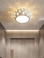 cheap -16cm LED Ceiling Light Crystal Porch Light Aisle Corridor Lamp Modern Round Desgin Flush Mount Lights Metal Painted Finishes 110-240 V