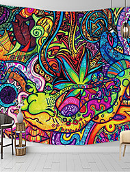 cheap -Psychedelic Abstract Wall Tapestry Art Decor Blanket Curtain Hanging Home Bedroom Living Room Decoration Polyester Mushroom Horrible Monster