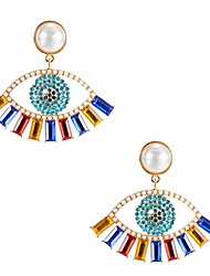 cheap -eye earrings for women - evil eye earrings,gift for birthday, thanksgiving, mother's day, casual or daily wear (color gold)