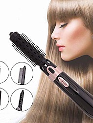cheap -hair brush straightener curler multifunctional electric hair dryer styling brush with two heating settings and shut-off convenient hair curlers rollers for all hairstyle (black)