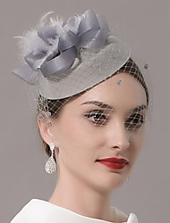 cheap -Feathers / Net Fascinators / Hats / Headwear with Feather / Cap / Flower 1 PC Wedding / Special Occasion Headpiece