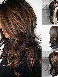 cheap -hairpiece fashion brown curly long wig faux hair women cosplay party charming hairpiece hair scrunchies updo hair bun hair accessories for women - black brown