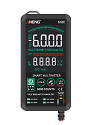 cheap -618C Digital Multimeter Smart Touch DC Analog Bar True RMS Auto Tester Professional Transistor Capacitor NCV Testers Meter