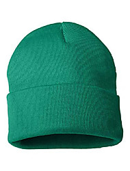 cheap -- 12 inch solid knit beanie - sp12