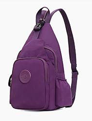 cheap -Women's Unisex Bags Nylon Synthetic Sling Shoulder Bag Chest Bag Zipper 2021 Daily Outdoor Black Blue Purple Fuchsia