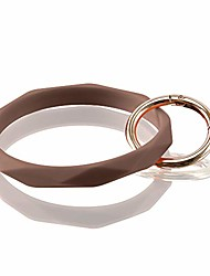cheap -key ring bracelet keychain silicone bangle for women and girls diamond shaped