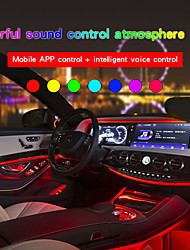 cheap -1 Set Car Environmental Atmosphere Bulb Colors Mobile App Wiring Control Bluetooth Connectivity LED Light Bar Lamp Caps 1 For 4