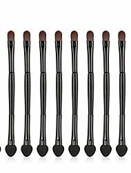 cheap -eye shadow applicator disposable 10pcs eye shadow applicator disposable dual sides makeup eyeshadow eyebrow applicator sponge lip concealer brushes #288166