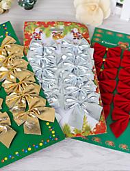 cheap -Mini Small Bow Christmas Tree Accessories Ornament Christmas Ornament Pendant Desktop Christmas Supplies 12 Pack